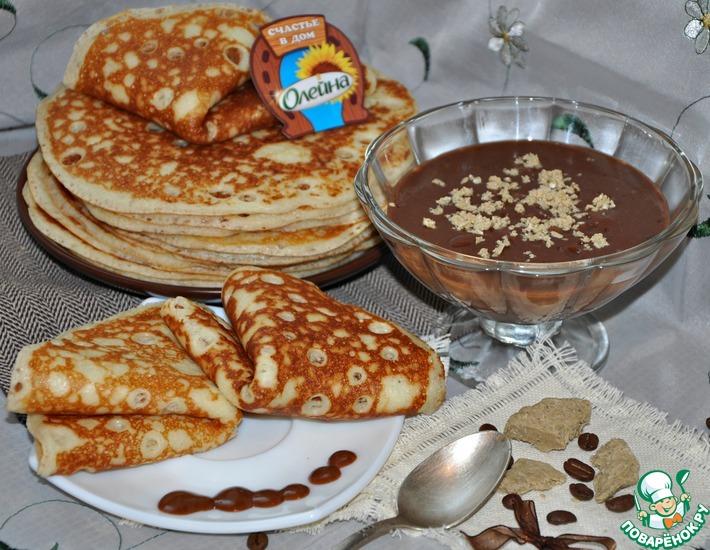 Рецепт: Шоколадный соус с халвой