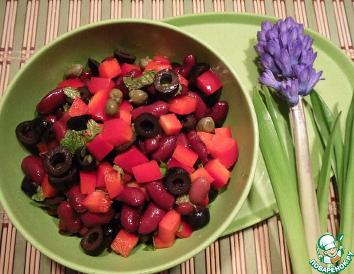 Рецепт: Салат В красных тонах