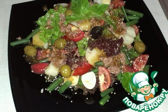 Рецепт: Салат Тунец в засаде