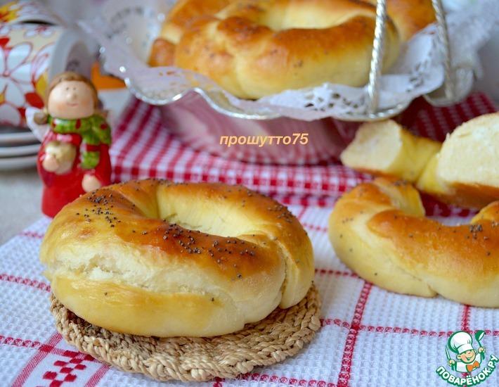 Рецепт: Апельсиновые булочки с кокосом