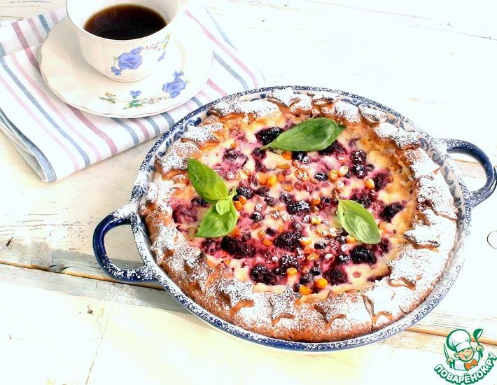 Рецепт: Ягодный пирог с маскарпоне