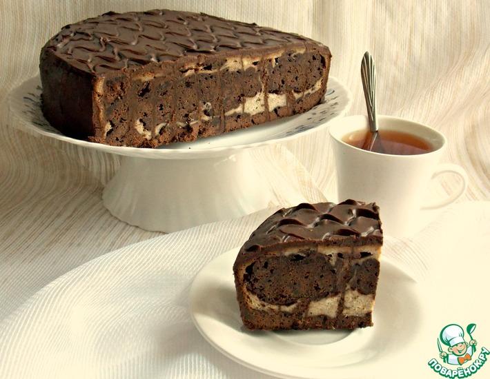 Рецепт: Шоколадно-творожный торт с бананом