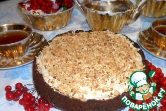 Рецепт: Торт с арахисовым кремом