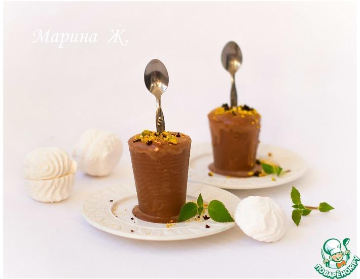 Рецепт: Шоколадно-зефирное мороженое