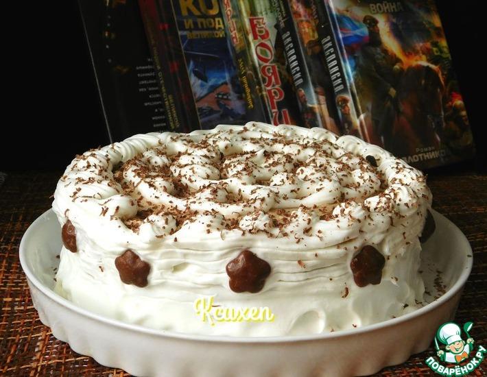 Рецепт: Торт без выпечки Мокко