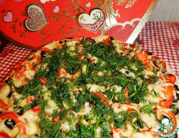 Рецепт: Пицца со шпротами