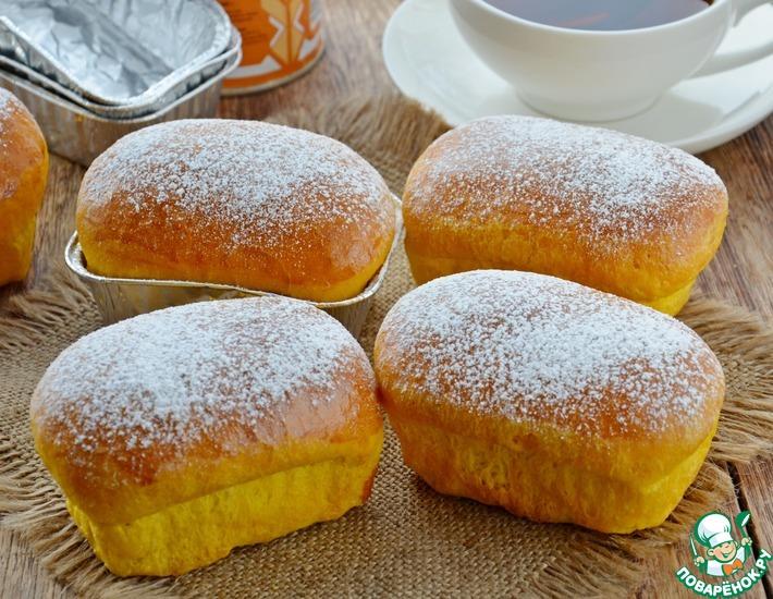 Рецепт: Тыквенные булочки с вареной сгущенкой