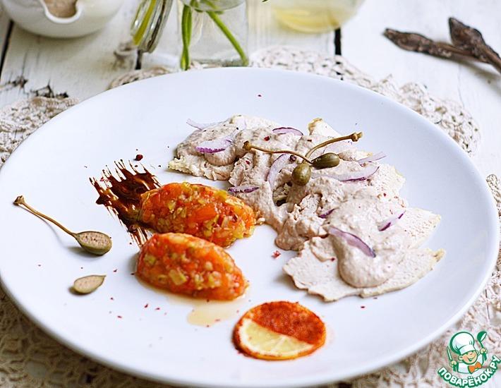 Рецепт: Курица с соусом из тунца и икрой