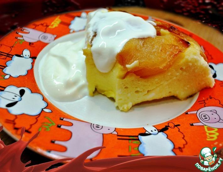 Рецепт: Творожно-яблочная запеканка