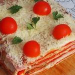 Закусочный торт из красного перца
