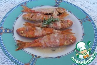 Рецепт: Жареная барабулька с соусом Саворо