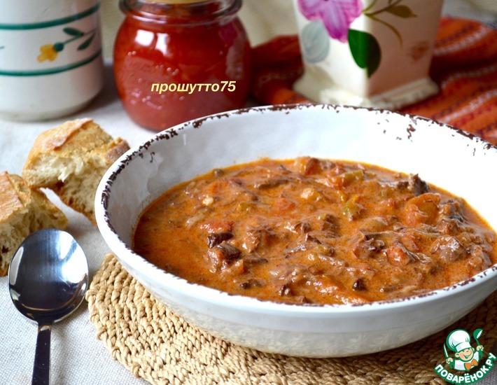 Рецепт: Суп из бычьего хвоста