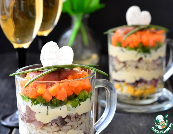 Рецепт: Салат с микс-рисом и сельдью