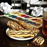 Полосатое печенье с орехами – кулинарный рецепт