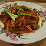 Курица чили с морковью