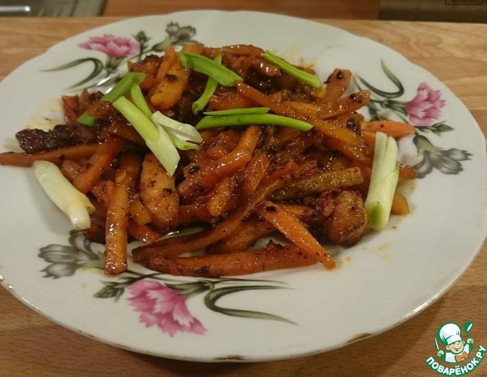 Рецепт: Курица чили с морковью