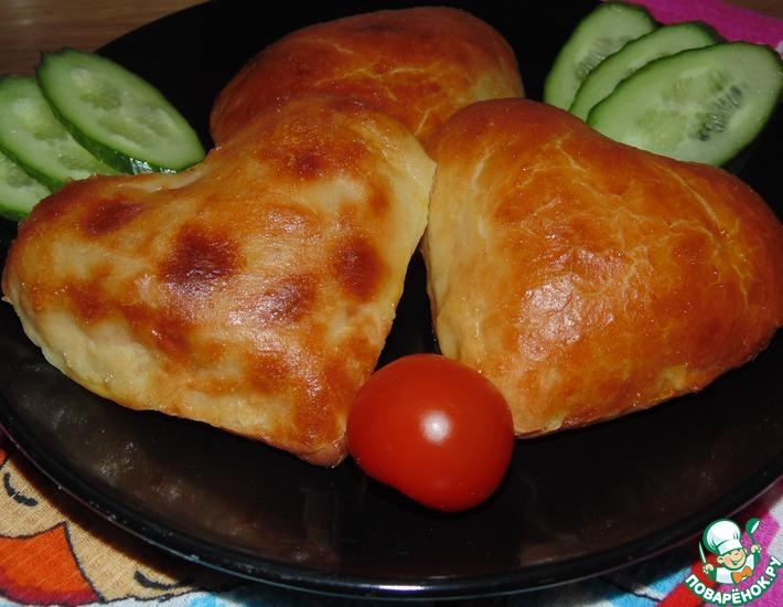 Рецепт: Закусочные сердечки с ветчиной и сыром