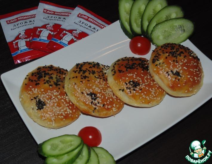 Рецепт: Маленькие закусочные пирожки Инь-Ян