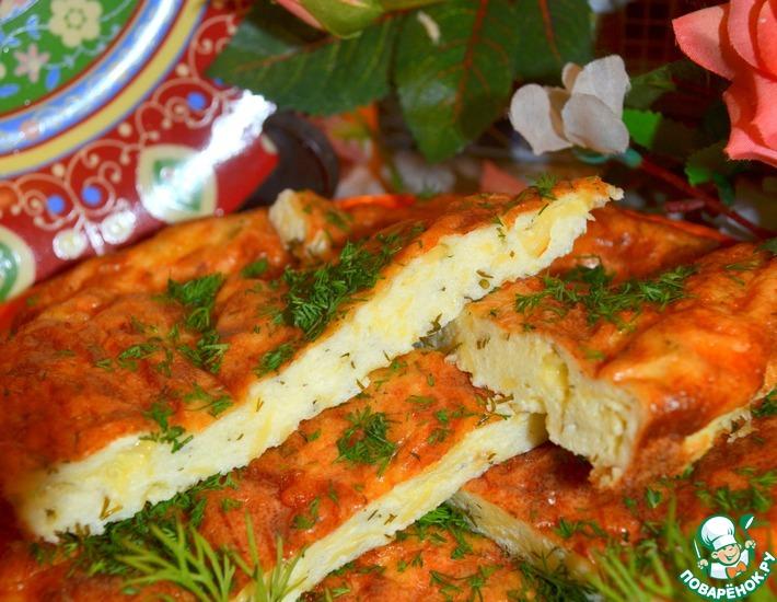Рецепт: Супер-сырная лепёшка Моментальная