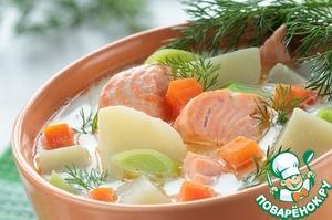 Рецепт: Сливочный суп из нерки