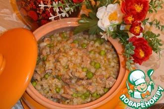 Рецепт: Перловая каша с мясом Жемчужная