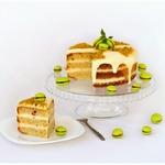 Фисташковый торт с марципаном