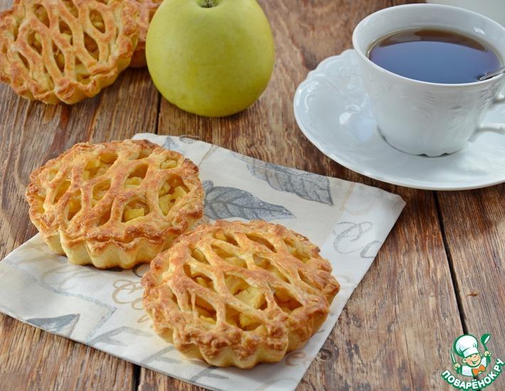 Рецепт: Пироги Корзиночки с яблоками
