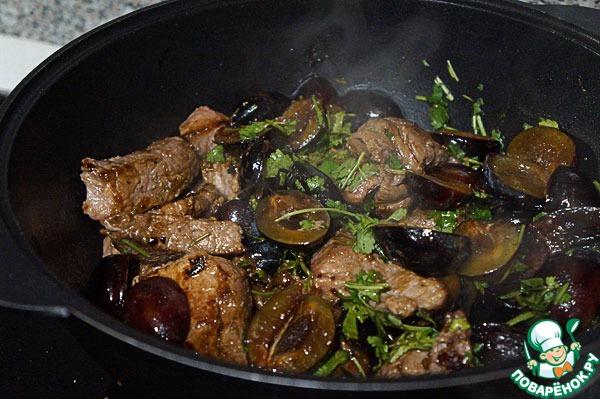 говядина со сливой рецепт
