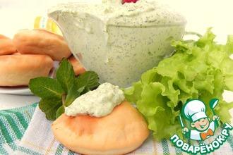 Рецепт: Соус к оладьям Зелёная сметана