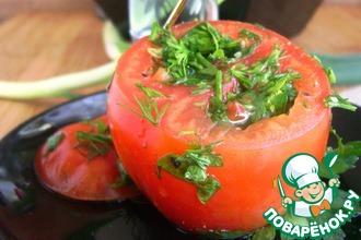 Рецепт: Быстрые закусочные помидоры