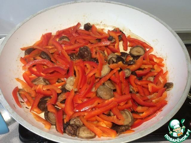 фунчоза с шиитаке рецепт