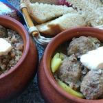 Густой суп из гречки с фрикадельками