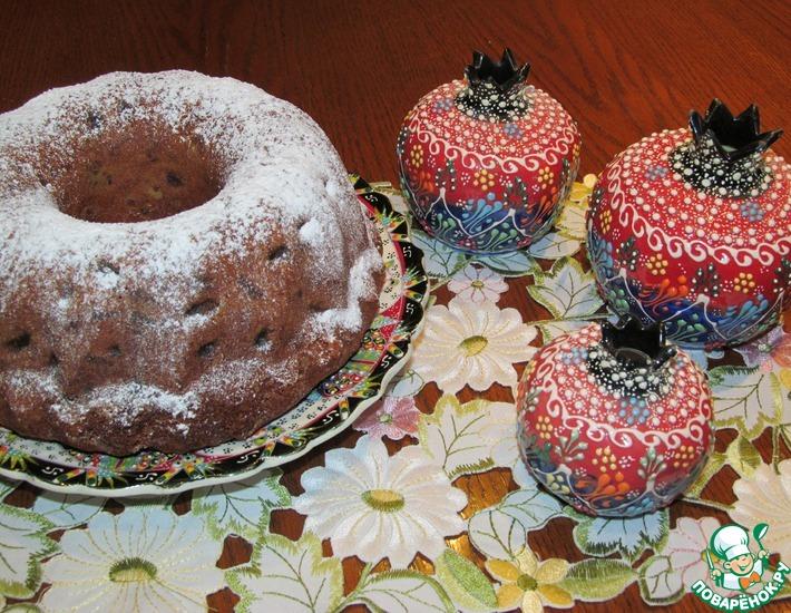Рецепт: Кекс с изюмом Султанский пирог