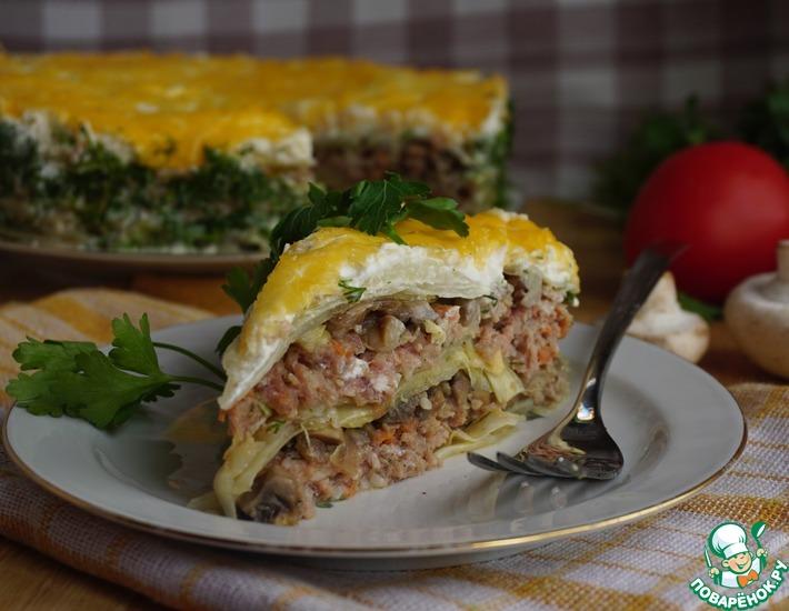 Рецепт: Мясной пирог Бабушкин голубчик от Аллы Ковальчук