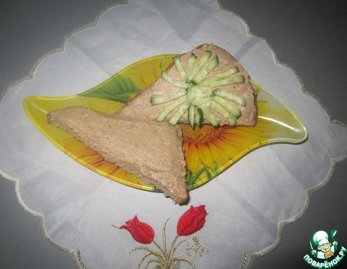 Рецепт: Печёночный паштет Вкуснятина