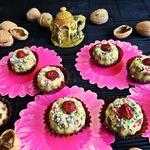 Конфеты с клюквой и орехами
