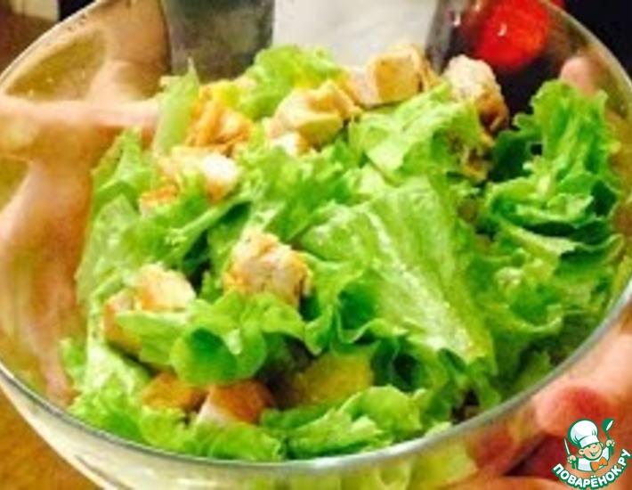 Рецепт: Салат из курицы с апельсином