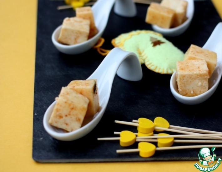 Рецепт: Сыр в остро-медовом маринаде