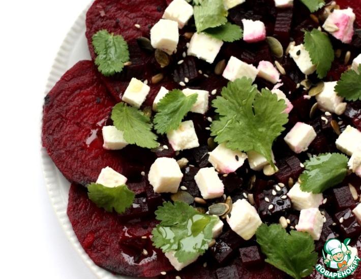Рецепт: Салат с маринованной свеклой