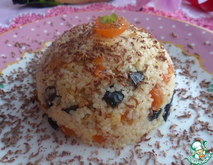 Рецепт: Кускус На завтрак с орехами и сухофруктами