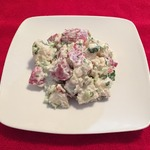 Салат из красного картофеля в сметанном соусе
