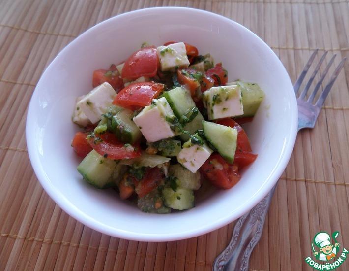 Рецепт: Салат с овощами и брынзой