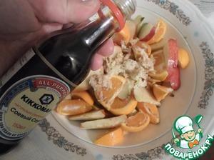 Утка, фаршированная яблоками и мандаринами – кулинарный рецепт