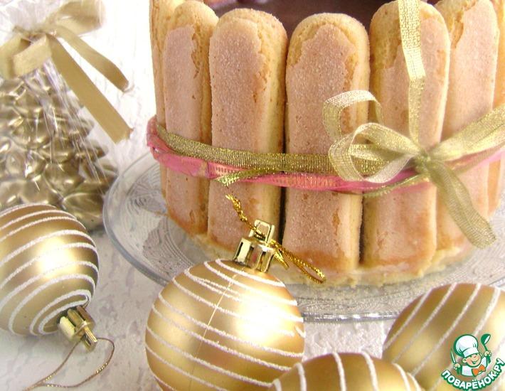 Рецепт: Торт желейный «Полосатая нежность»
