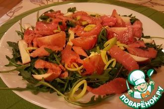 Рецепт: Салат из рукколы с лососем