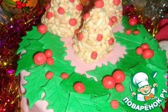 Рецепт: Торт Рождественский венок