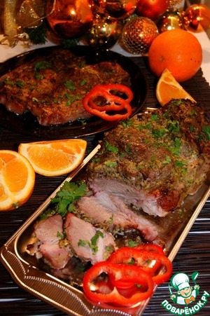 Marinated roast pork in Cuban