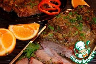 Рецепт: Маринованная запеченная свинина по-кубински