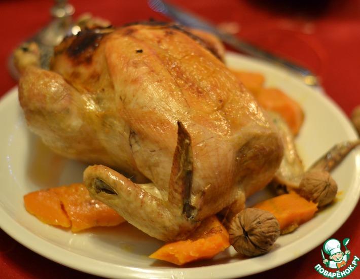 Рецепт: Курица, фаршированная по-венгерски