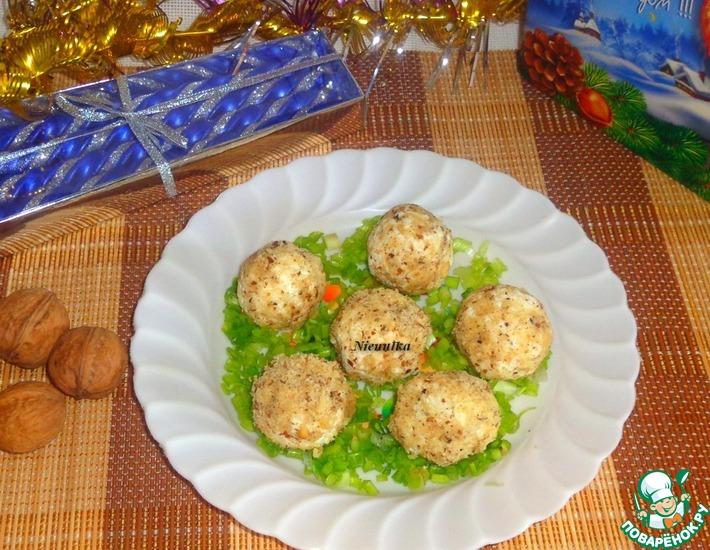 Рецепт: Закуска Творожно-ореховая фантазия